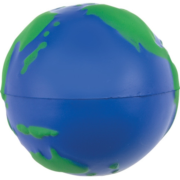 Personalized Globe Shaped Stress Ball