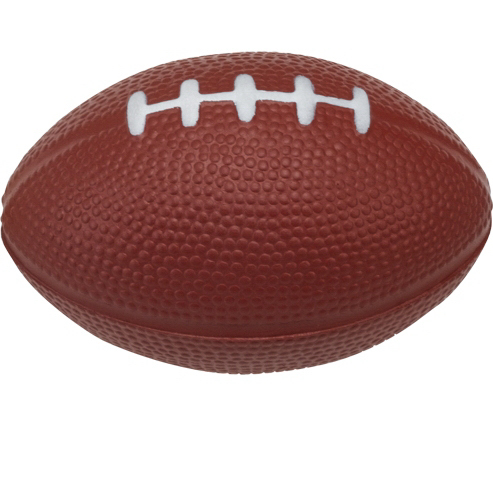 Printed Football Shaped Stress Ball