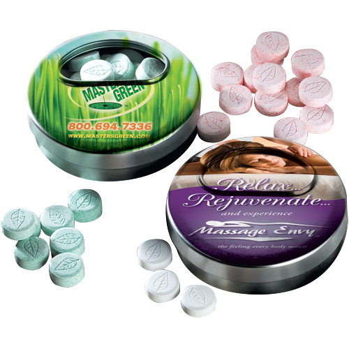 Promotional Mints in Twisting Mint Tin