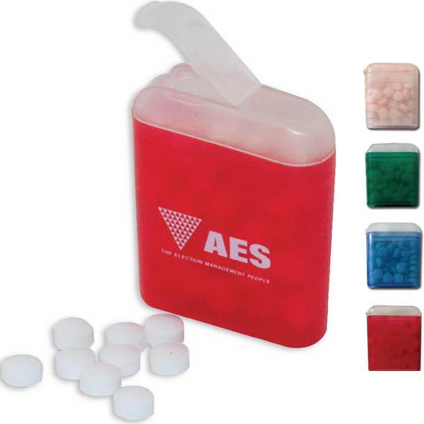 Personalized Mints in Plastic Flip Top Container
