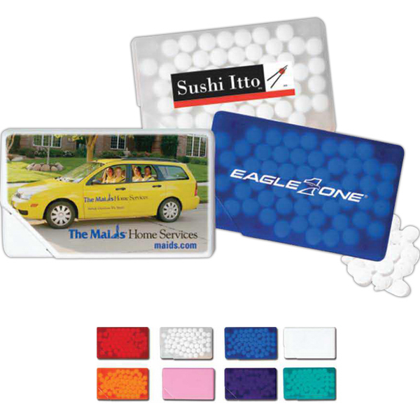 Custom Mints in Credit Card Shaped Dispenser- Peppermint