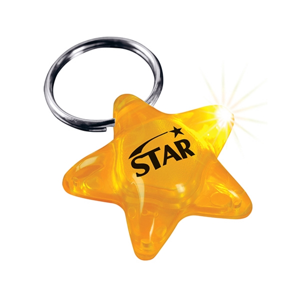 Imprinted Key-Ring Lights-Star