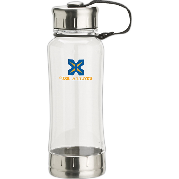 Customized 18 oz. AS Plastic Bottle