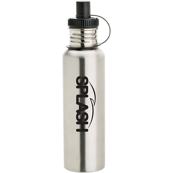 Imprinted Stainless Bottle with Drink-thru cap
