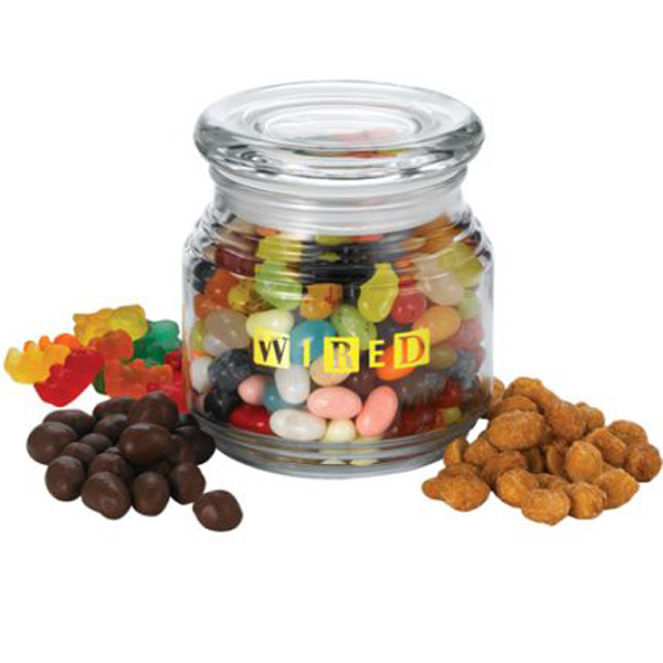 Imprinted Jar with trail mix
