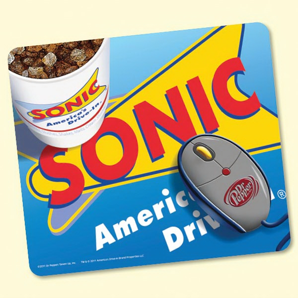 "Promotional Origin'L Fabric® 7""x8""x1/8"" Fabric Mouse Pad"