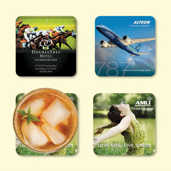 "Personalized Origin'L Fabric® 3.6""x3.6""x1/16"" Fabric Coaster"