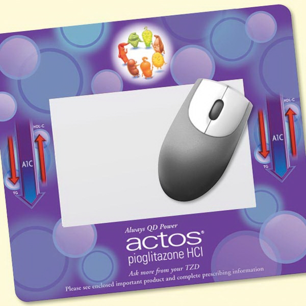 "Imprinted Barely There (TM) Frame-It Flex® 8""x9""x.020"" Mouse Pad"
