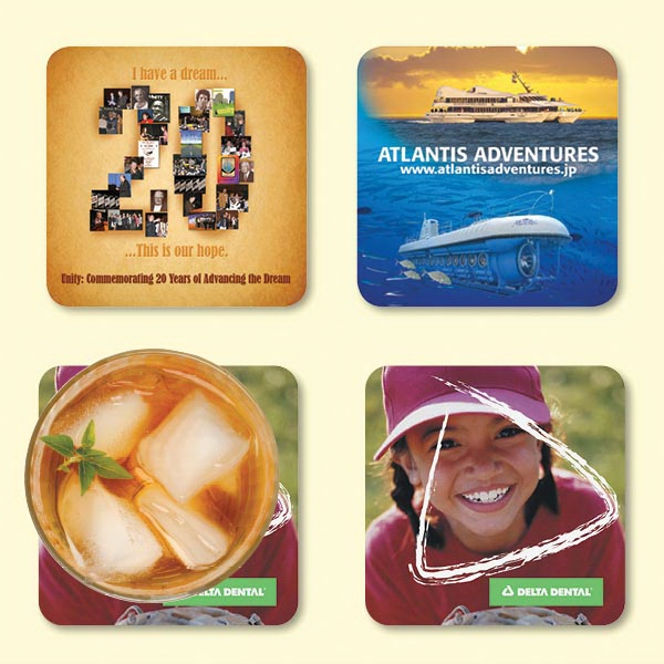 "Promotional Vynex® Heavy Duty 4""x4""x1/16"" Hard Surface Coaster"