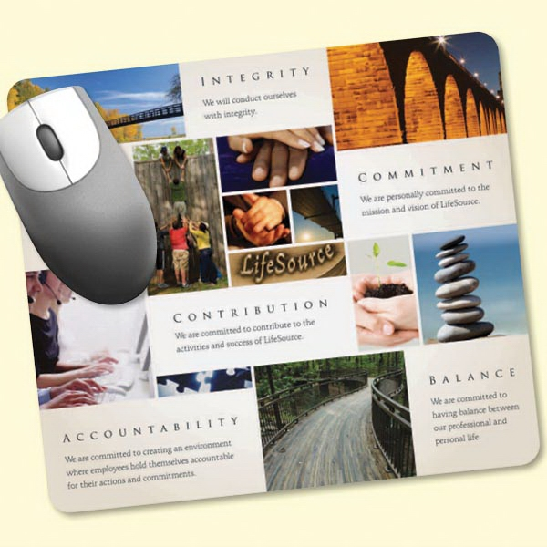 "Imprinted Peel&Place® 7.5""x8.5""x.015"" Ultra Thin Mouse Pad"