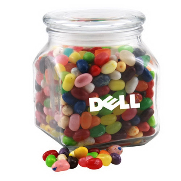 Imprinted Glass Jar with Jelly Bellies