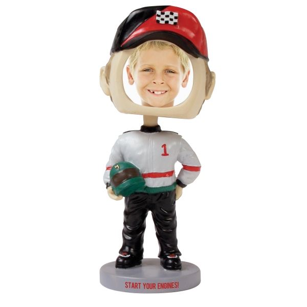 Customized Race car driver bobblehead
