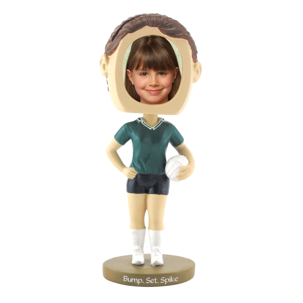 Promotional Girl's volleyball bobblehead