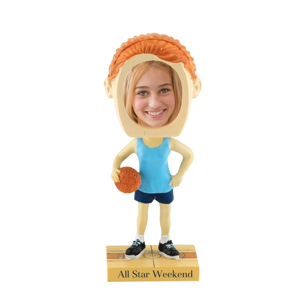 Customized Girl's basketball bobblehead