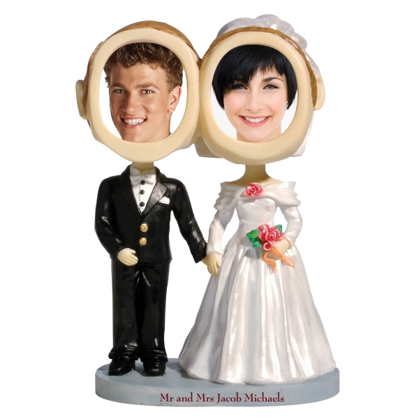 Personalized Bride & groom bobblehead