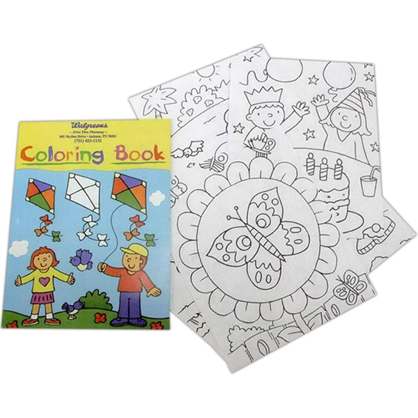 Imprinted Coloring Book