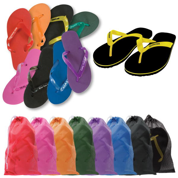 Printed Quick Turn Adult Flip Flops