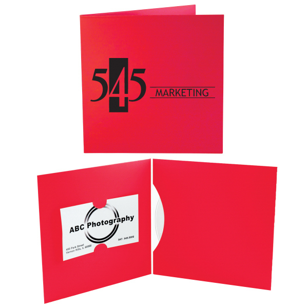 Imprinted CD/DVD Business Card Folio