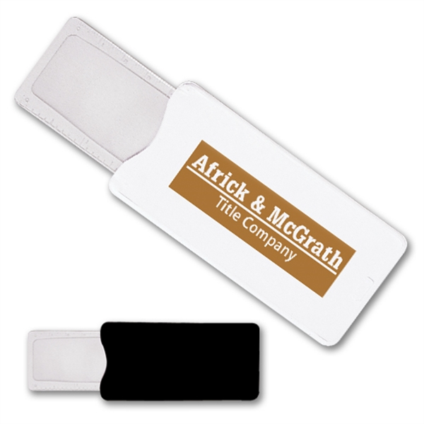 Printed Slim Magnifier/Ruler