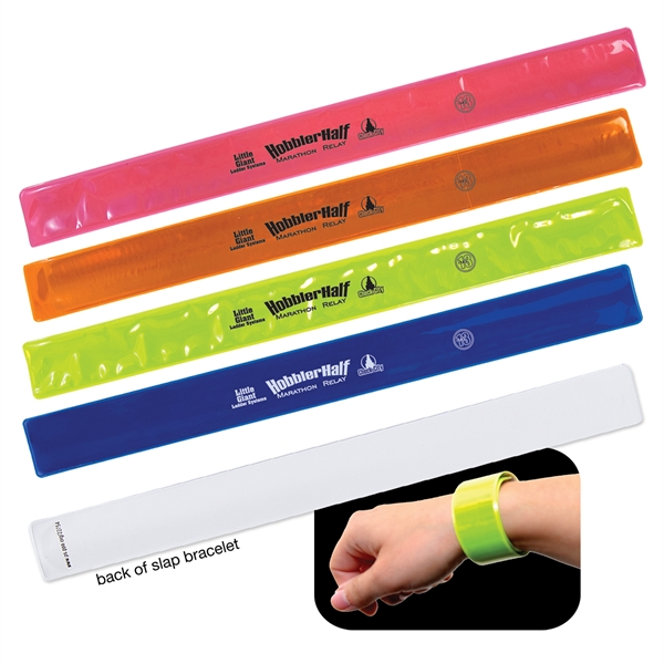 Imprinted Reflective Safety Slap Bracelet