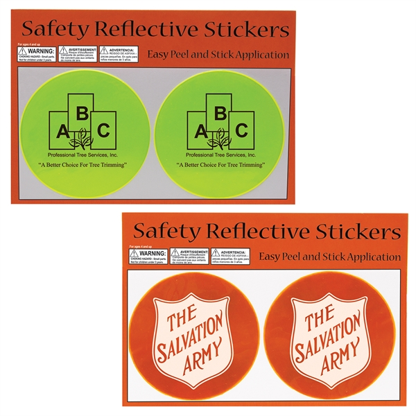 Customized Round Safety Reflective Stickers