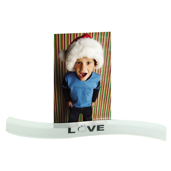 Imprinted Wavy Photo Holder