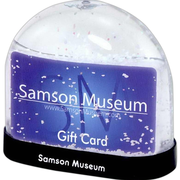 Custom Gift Card Snow Globe