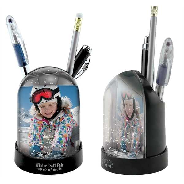 Imprinted Pencil Cup Snow Globe