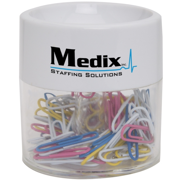 Personalized Round Paper Clip Dispenser