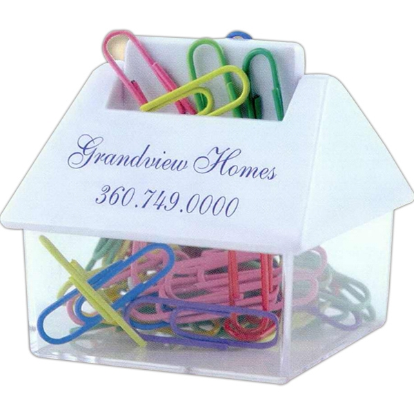 Promotional House Paper Clip Dispenser