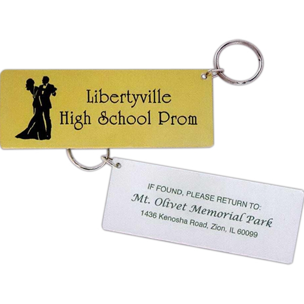 Promotional Mirror Finish Ticket Key Tag