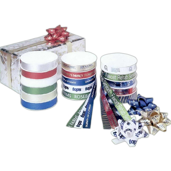 """Promotional 3/4"""" Satin Embossed Poly Ribbon"""