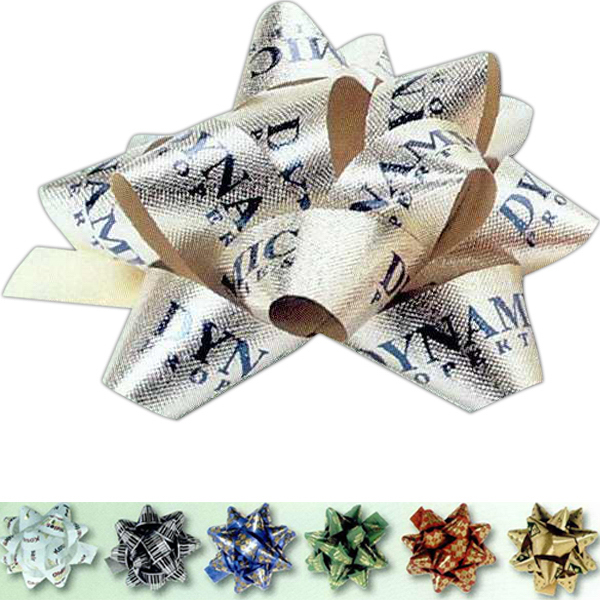 "Promotional 3/4"" Satin Embossed Poly Bow"