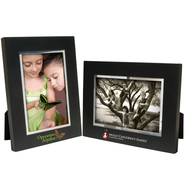 Personalized 4 x 6 Black Wood Frame