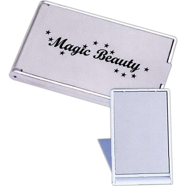 Promotional Silver Compact Mirror
