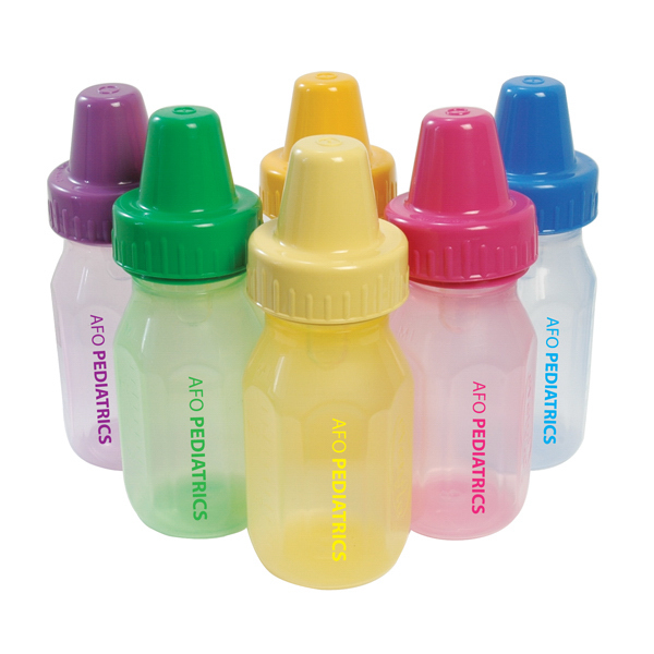 Promotional 4 oz Assorted Color EvenFlo Baby Bottles
