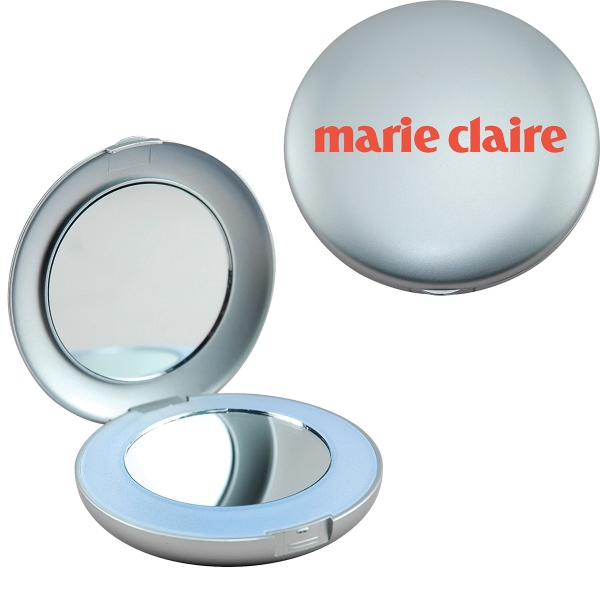 Imprinted Illuminated Compact Mirror