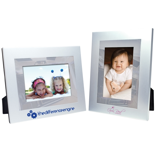 Imprinted 4 x 6 Brushed Mirror Frame