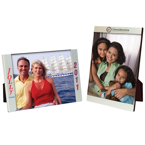 Printed 5 x 7 Three Piece Brushed Silver Clip Frame