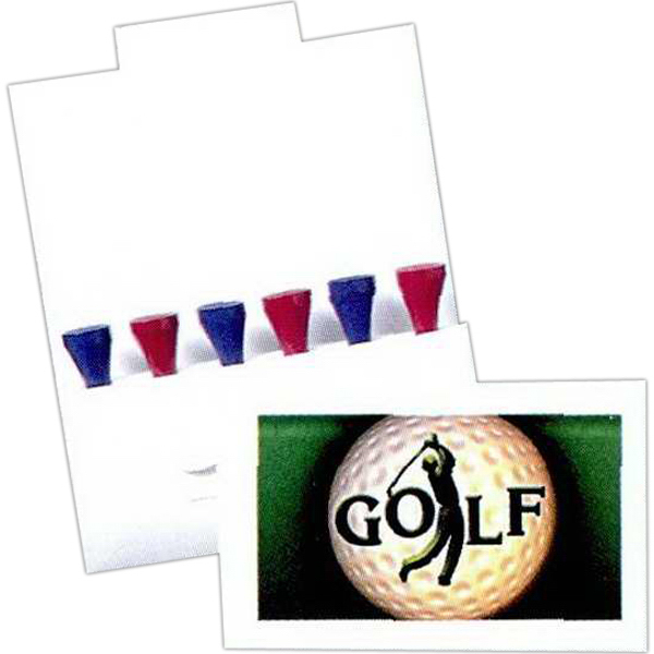 Personalized 6 Tee Golf Packet