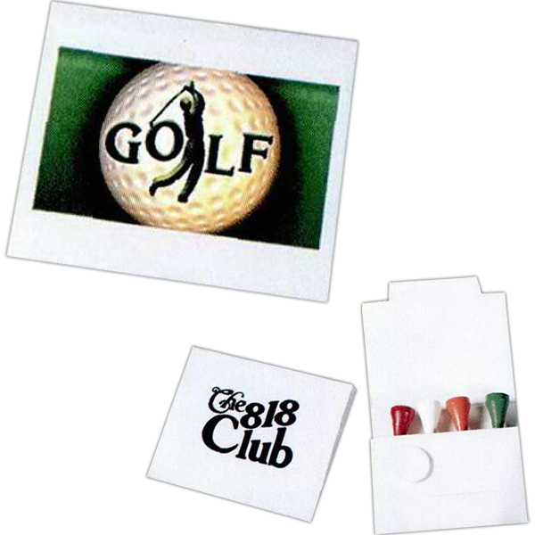 Personalized 4 Tee Golf Packet