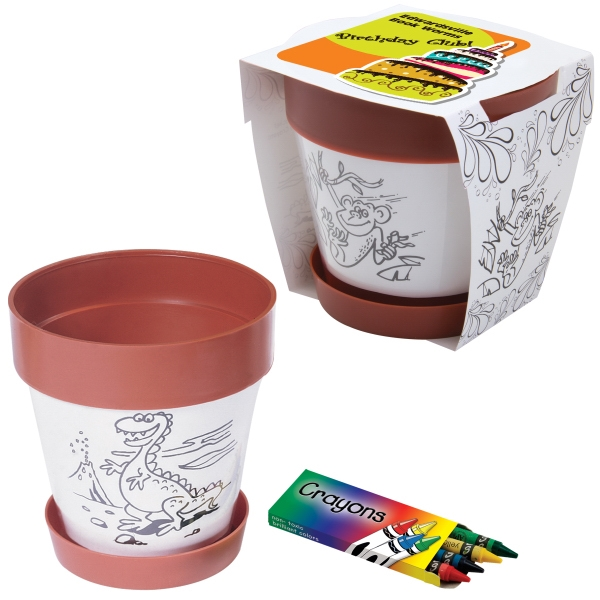 Promotional Clay Color Plastic Planter