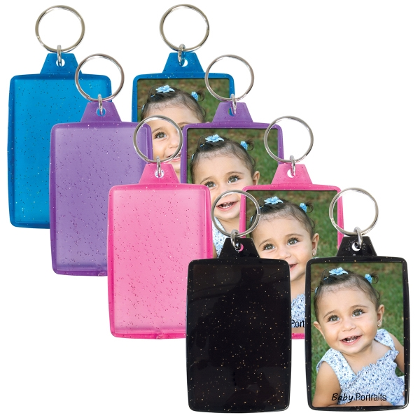 Customized Translucent Sparkle Snap-In Key Tag