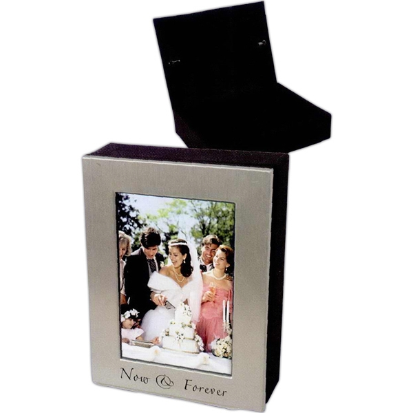 Personalized 4 x 6 Silver Photo Frame Box