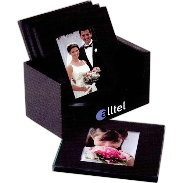 Custom 4 Piece Square Glass Coaster Set
