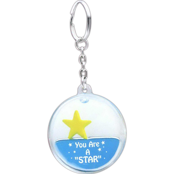 Promotional Liquid Star Key Tag