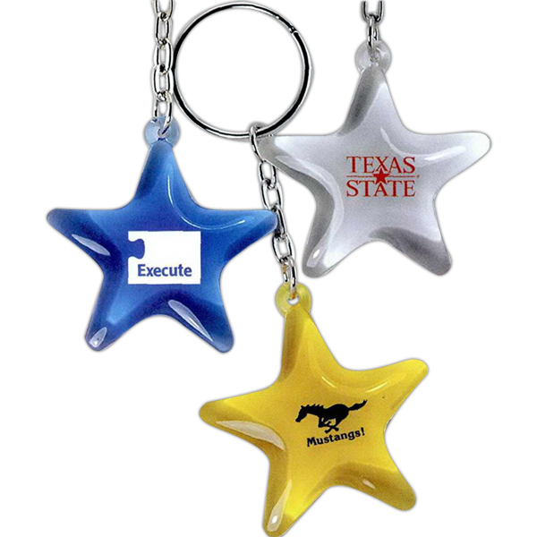 Printed Star Key Tag