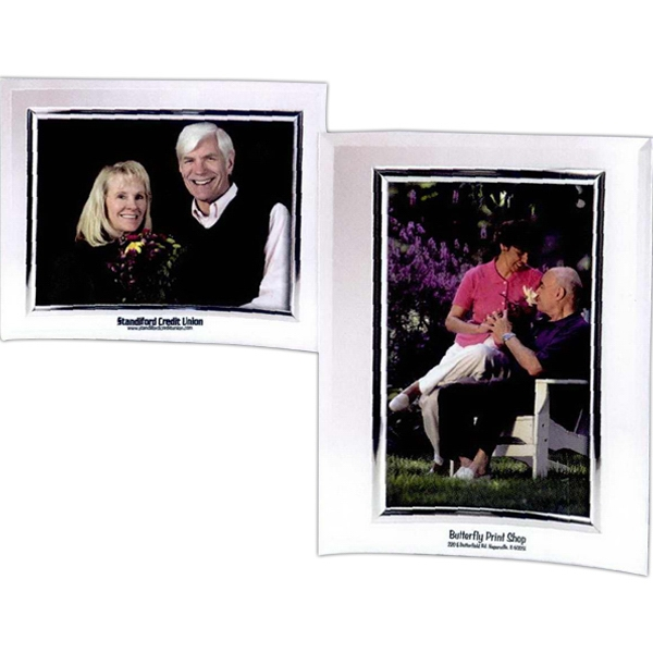 Imprinted 5 x 3 1/2 Curved Frame