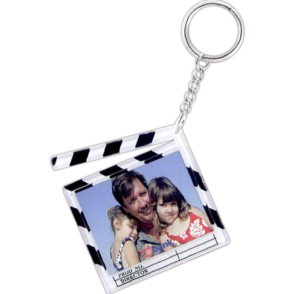 Customized Clapboard Snap-In Key Tag