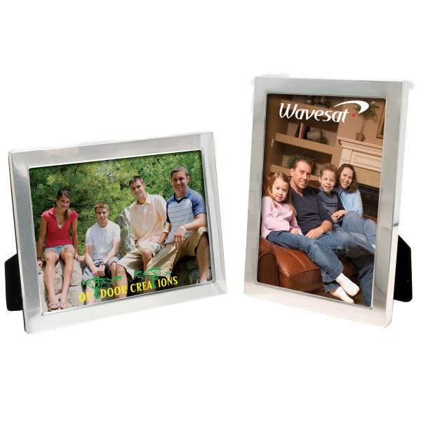 Imprinted 5 x 7 Brushed Finish Frame